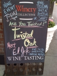 Twisted Oak Sign