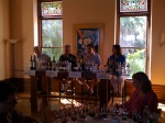 The tasting Panel at Sring Mt, for the Napa Valley cabernet Sauvignon bloggers tasting at WBC09