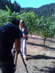 Lisa Mattson Slatting the shot for Bret Lyman at Juster, Anderson Valley