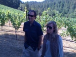 Keith Hock & Lisa Mattson in Juster Vineyard Filming Schramsberg Documentary