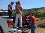 The Schramsberg Documentary crew at Standish Vineyards, Anderson Valley