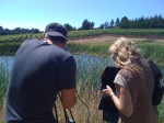 Bret Lyman & Lisa Mattson shooting Schramsberg documentary in Keefer Vineyard