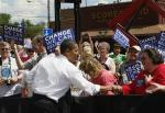 Barrack working the crowd on the Campaign Trail