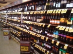 Sale tags on all the wines