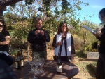 Mike Benziger & Kathy Benziger Threlkeld talking with the wine bloggers