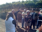 Mike Benziger pointing out the native raptor population at Benziger Family Winery