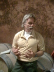 Mike Benziger in the wine caves at Benziger Family Winery